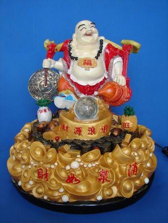 Buddha Water Fountain Carrying Coin and Wu Lou