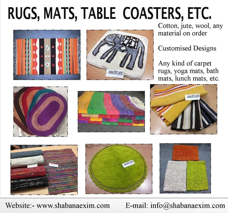 Rugs mats coasters table covers napkin door mats floor carpets bath mats