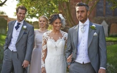 Our silver mohair tailcoat, Hinstock. #groom #weddingsuits #greysuit #groomsmen