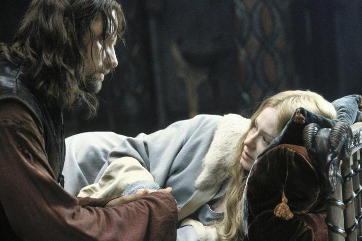 ROTK Aragorn and Éowyn in Houses of Healing?? - New Line Cinema