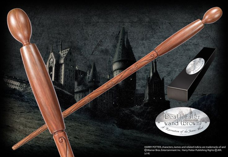 Death Eater Character Wand (brown) - The Noble Collection