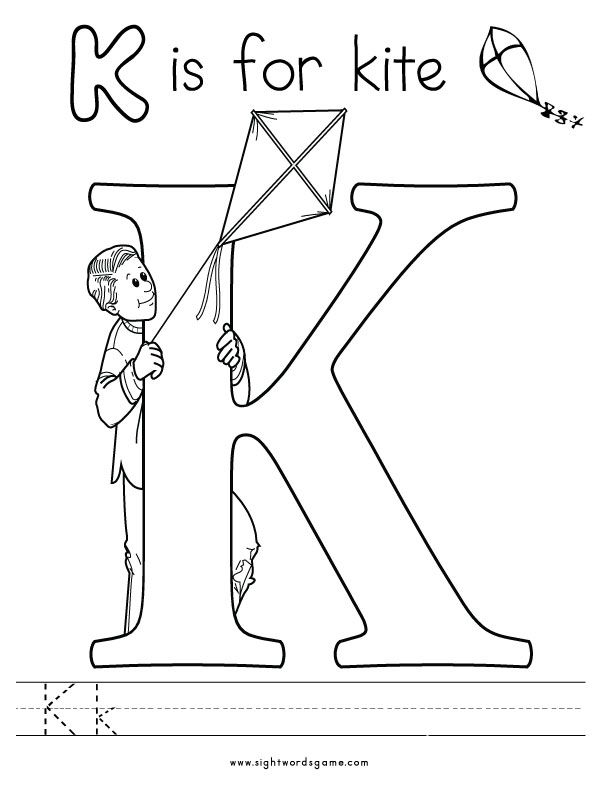 Letter K Coloring Page 2