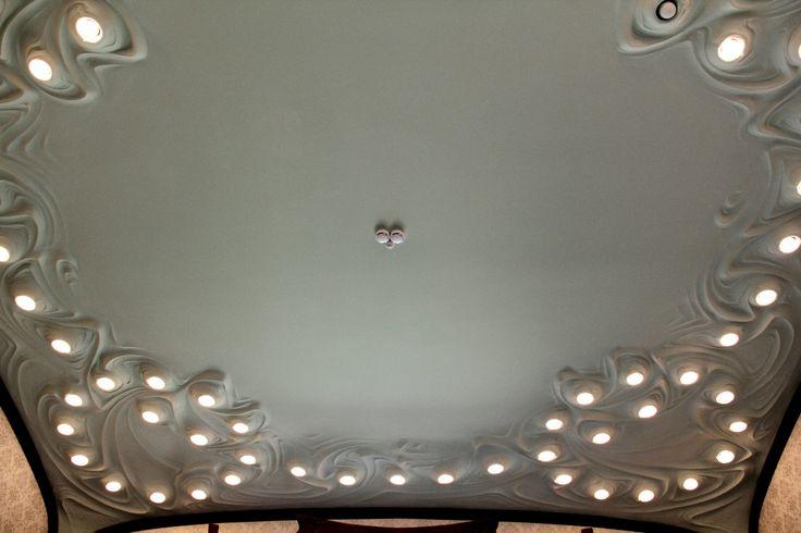 Дома Москвы. Особняк А. И. Дерожинской. Кропоткинский переулок, д. 13. Архитектор Ф. О. Шехтель. 1901-1904 гг. Потолок в спальне.