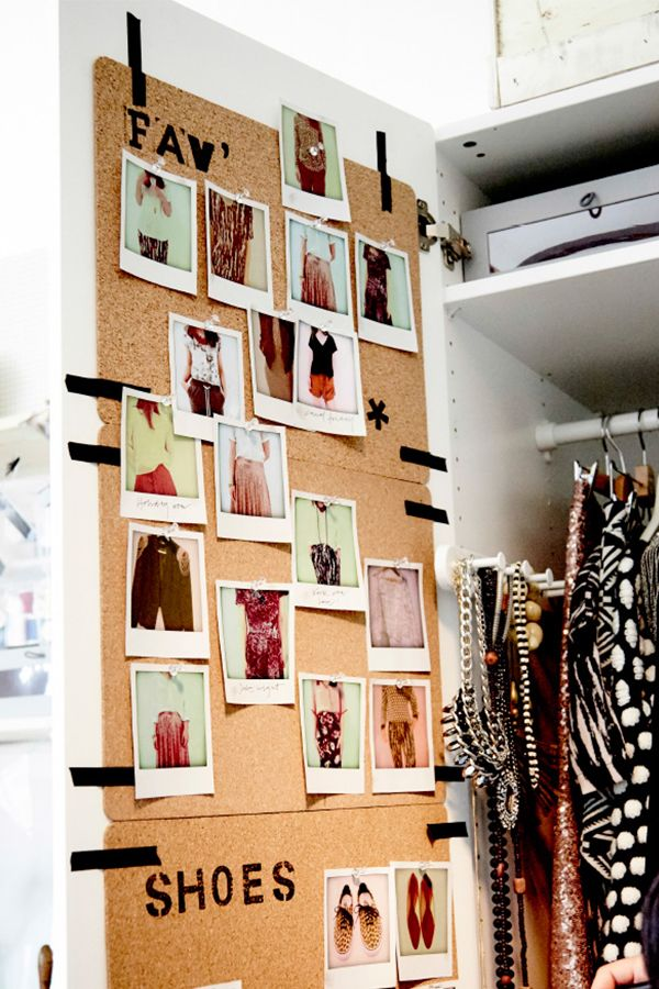 """Finally put an end to """"I have nothing to wear"""". The AVSKILD placemat and a few selfies on the back of your wardrobe door will help you make getting dressed in the morning easier, quicker and more fun!"""