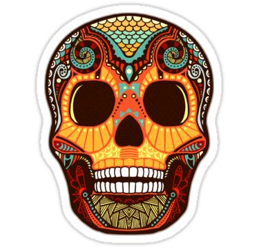 Tattoo skull stickers by kerstin schoene redbubble