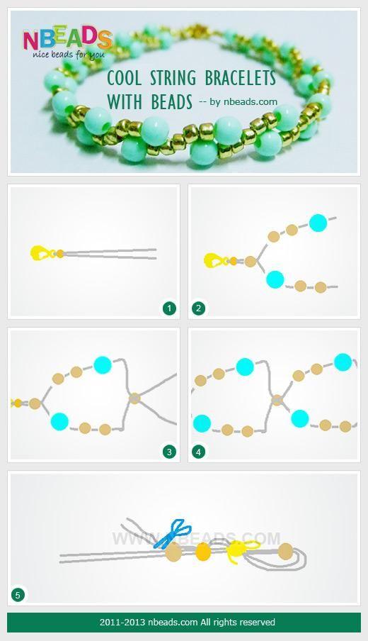 DIY Bracelets: DIY Jewelry: Cool String Bracelets with Beads