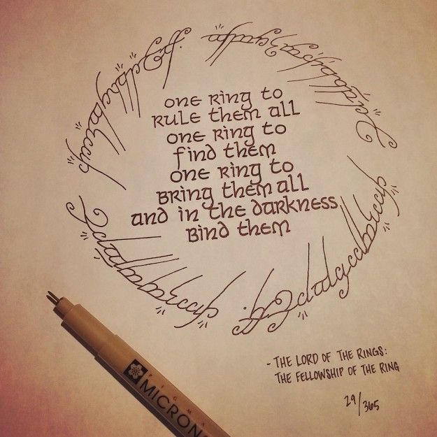 …or Lord of the Rings. | This Artist Drew 365 Movie Quotes And They're All Gorgeous