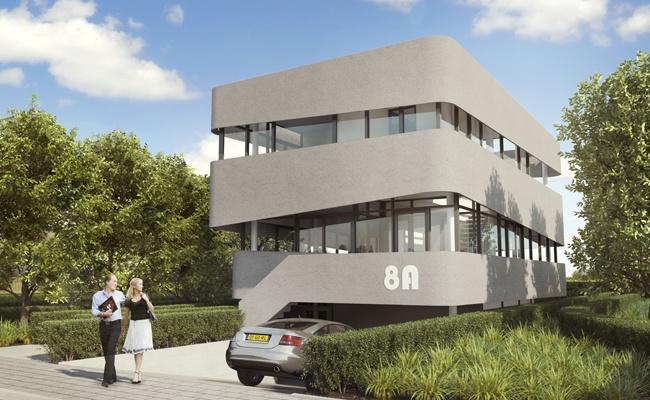 Villa 8A, stuco facade, www.villa8a.nl