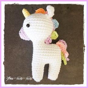 kleines einhorn häkeln - kostenlose anleitung - amigurumi unicorn - crochet pattern free