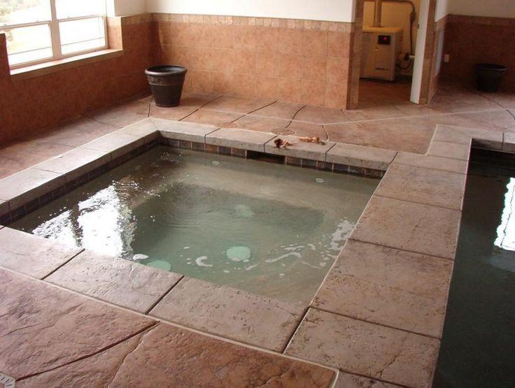 63 best hot tub design images on pinterest indoor hot for Indoor jacuzzi design