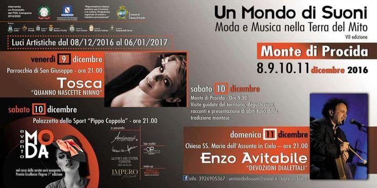"""Monte di Procida (Napoli), al via """"Un Mondo di Suoni"""", rassegna di musica e moda"""