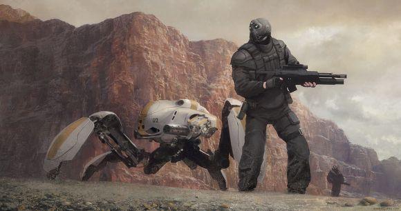 Geoffroy Thoorens djahalland deviantart ilustrações arte conceitual guerras futuristas batalhas tecnologia Facções