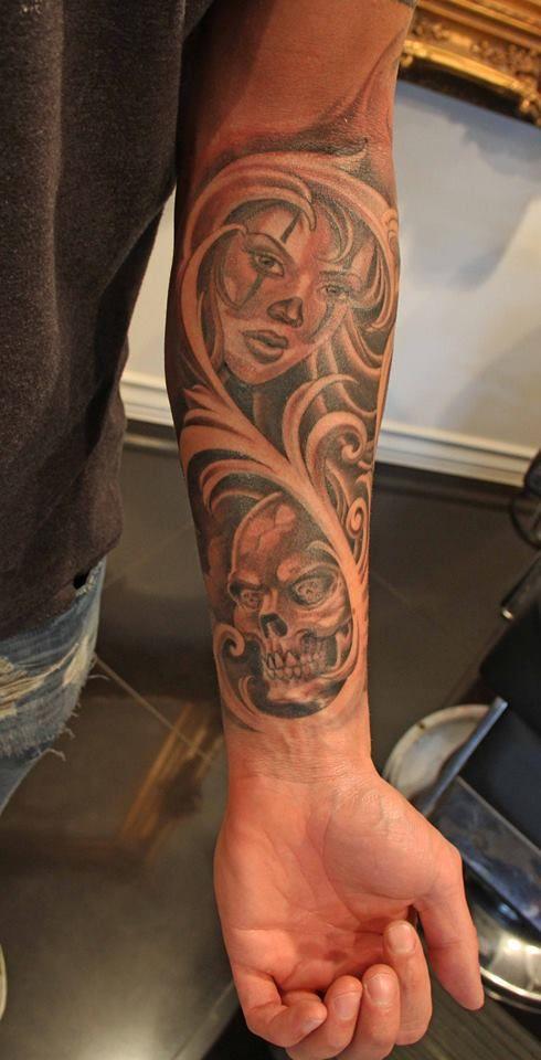 clown  Joker Brand  mister cartoon  skull  tattoo