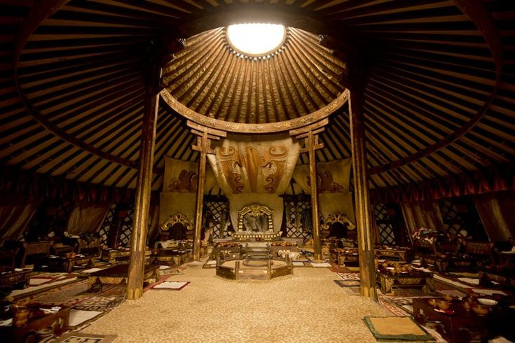 Inside a 13th century Mongolian Ger