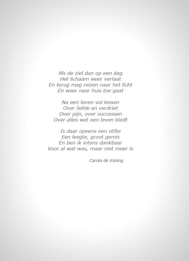 gedicht rouwkaart oma