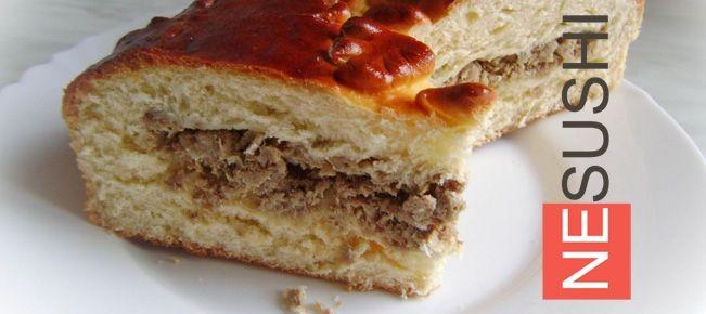 дрожжевой пирог с мясом, фото