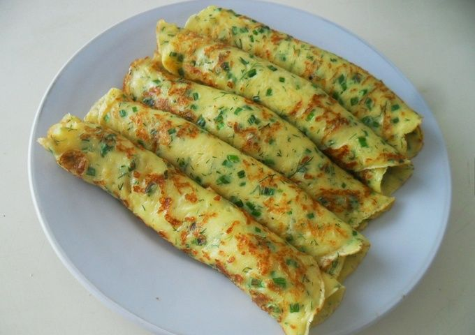 Cheese And Herb Pancakes