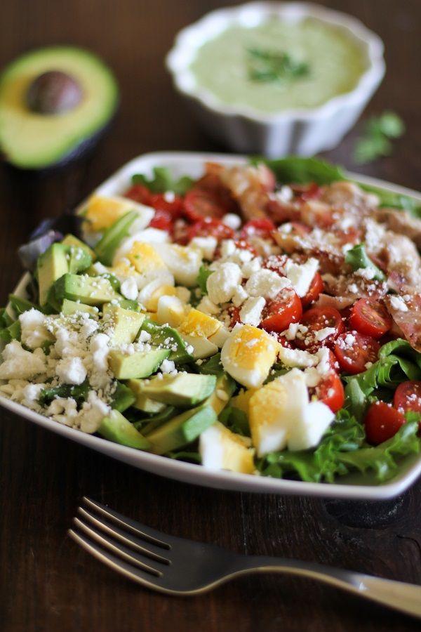 Cobb Salad with Homemade Green Goddess Dressing