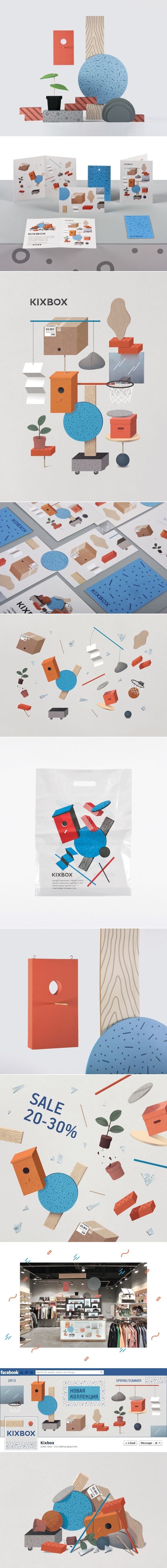 KixBox / Seasonal decoration KixBox store sells street wear. Every half year they totally change the design of seasonal decorations and marketing material. As the main topic for seasonal decoration spring-summer 2013, I've chosen graphic symbols of urban textures. It is a kind of camouflage for the urban environment by Lesha Galkin & Dopludo Collective. #WBD