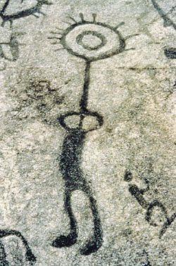 Iroquoian petroglyphs near Peterborough, ON