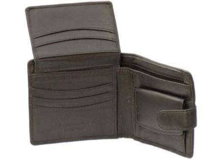 MENS HANDMADE LEATHER WALLET WITH LOTS OF FEATURES & YKK ZIP
