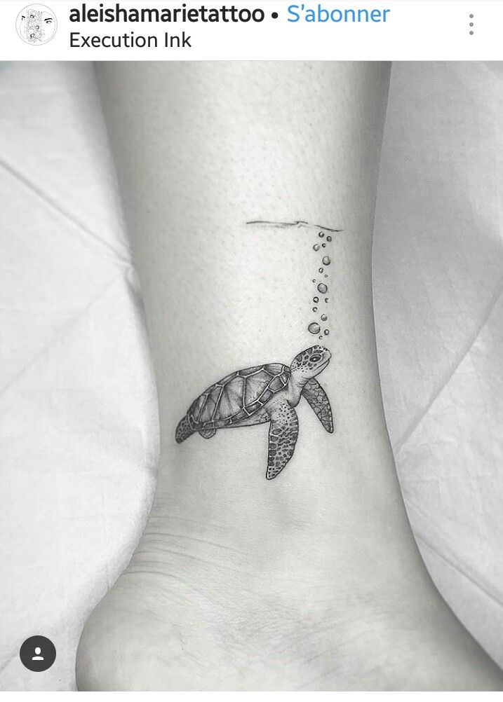 fb987ee7d810e Or a FROG 🐸 underwear Sea Turtle Tattoos, Small Turtle Tattoo, Hawaiian Turtle  Tattoos