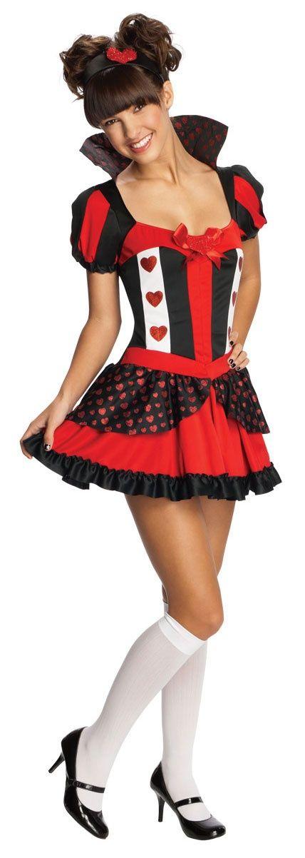 Teen Queen of Hearts Halloween Costume HalloweenCostumes4u.com $33.24 - wholesale lingerie, ladies lingerie stores, lingerie catalog