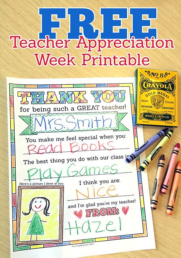 Teacher Appreciation Week is next week! Are you ready? This year, add a personalized touch with this printable worksheet. Teachers work so hard throughout the year and this printable from Frugal Novice is the perfect way to say thanks. Thank You for Being Such a Great Teacher Printable Save