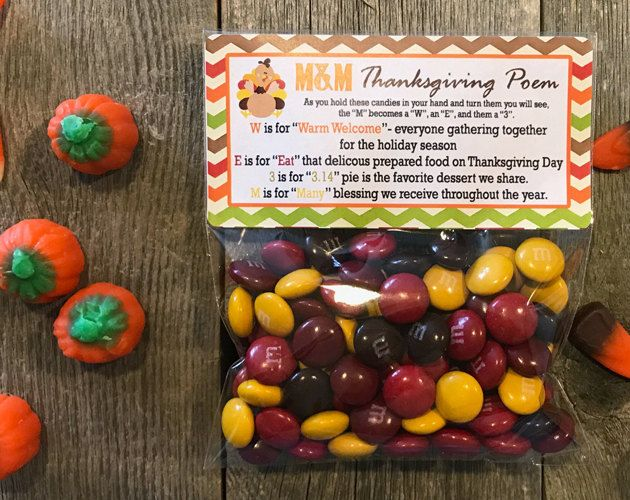 Thanksgiving Poem Favor Bags, Thanksgiving Poem Personalized Favors, Thanksgiving Poem Stickers, Thanksgiving Candy Bags, Thanksgiving Bags by PartiesR4Fun on Etsy