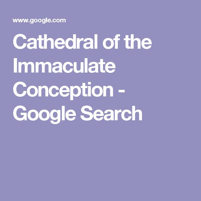 Cathedral of the Immaculate Conception - Google Search