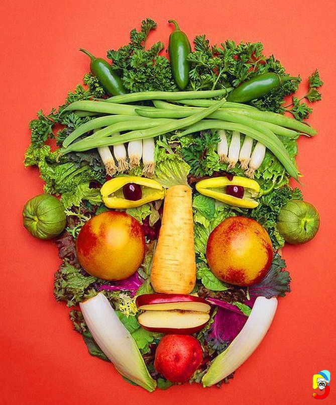 Amazing Fruits and Vegetable Faces | amazing food sculptures ...
