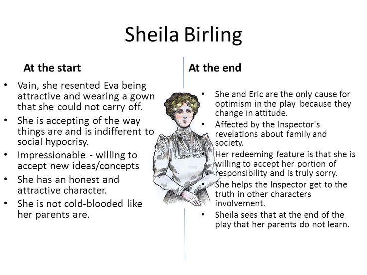 sheila birling ideas Posts about an inspector calls written by present ideas about gender in 'an inspector calls' gender is through the anecdote that sheila birling tells.