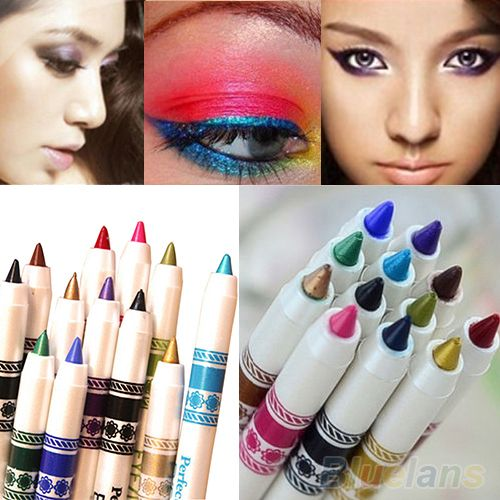 12 Colors Cosmetic Glitter Eye Shadow Lip Liner Eyeliner Pencil Pen Makeup Set 1UJT $4,49 (free shipping)