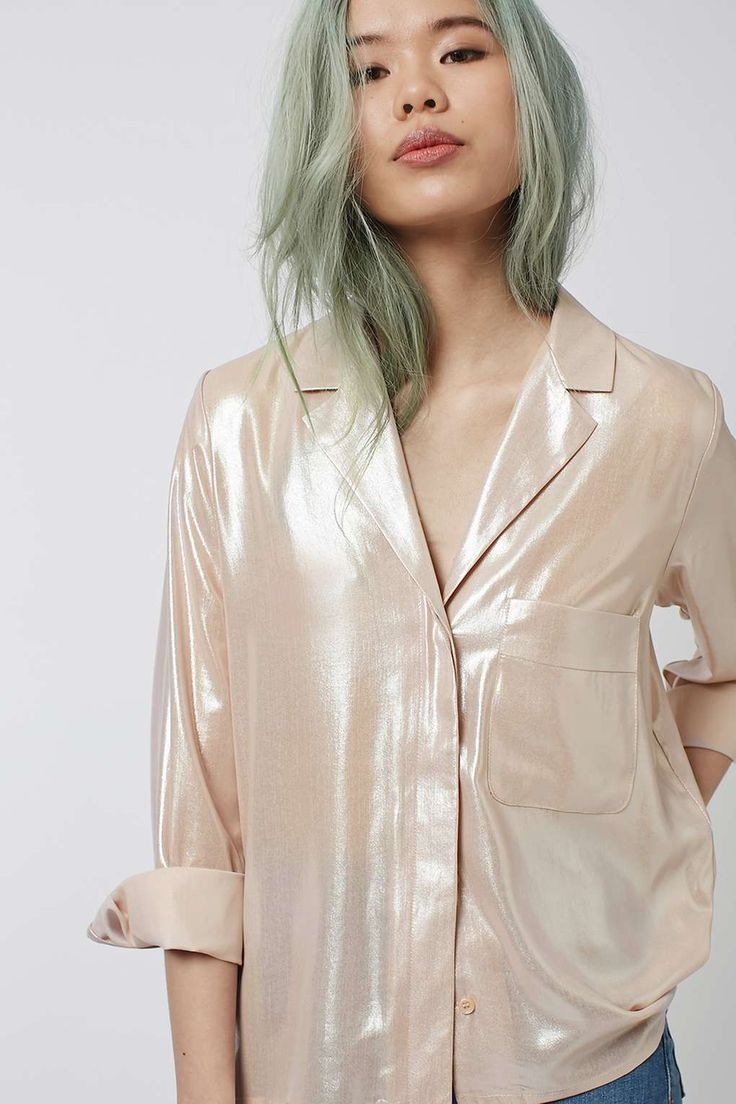 Metallic Pyjama Style Shirt - New In This Week - New In