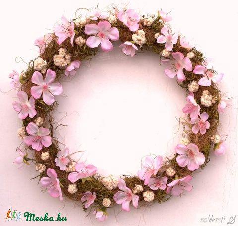 Mandulavirágzás - tavaszi ajtódísz, Otthon, lakberendezés, Dekoráció, Dísz, Meska