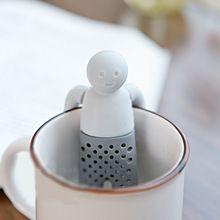 Silikon Mr Zaparzaczem Herbaty Czajniczek Śliczne Sitko Do Herbaty Kawy i Herbaty Zestawy Miękkie fred MR. Tea Narzędzie Prezenty(China (Mainland))