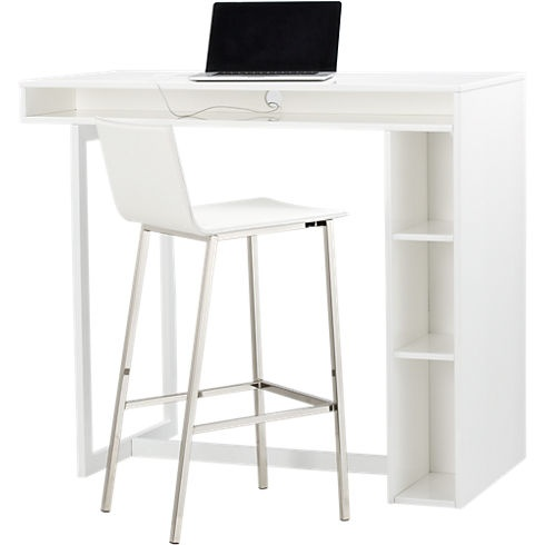 Public White 42 High Dining Table In Kitchen Cord
