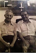 Picture of the Week (Or Century?) Carlo Gambino himself, sitting in a lawnchair beside a man we only know as RM....