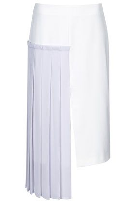 Hybrid Pleat Pencil Skirt by Boutique