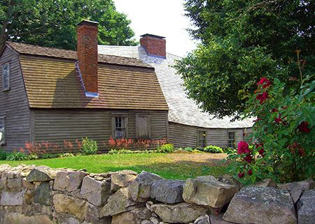 The oldest wood-frame house in North America