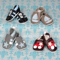 Soft leather shoes for little baby boys