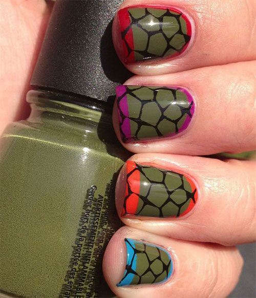 24 best tmnt style beauty images on pinterest ninja warrior show your support for your favorite shelled heroes with this subtle and elegant tmnt inspired nail prinsesfo Image collections