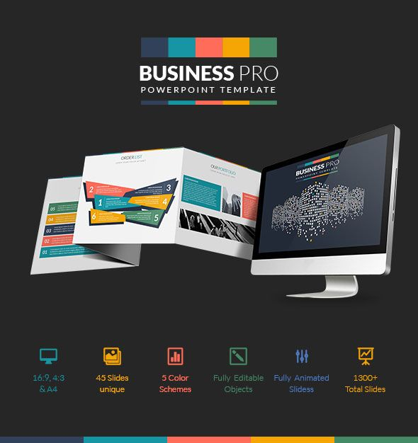 Business Pro: Professional Business PowerPoint  PPT Template  • Only available…
