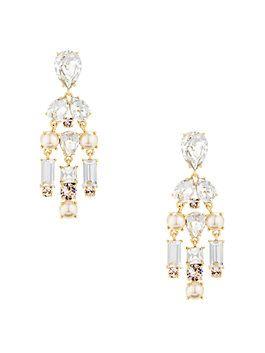 twinkling fete chandelier earrings