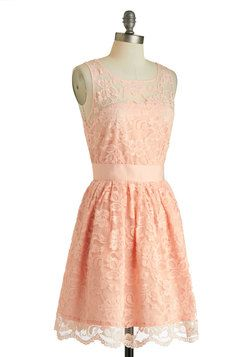 When the Night Comes Dress in Petal, #ModCloth   Someone please get me some Cowboy boots to pair with this adorable dress for our anniversary!