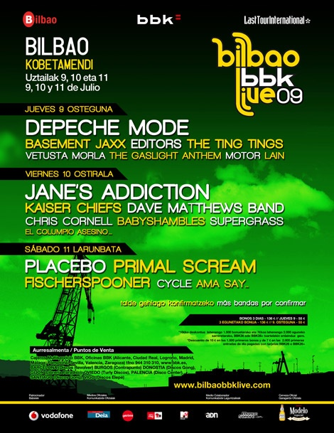BbkLive, Bilbao 2009