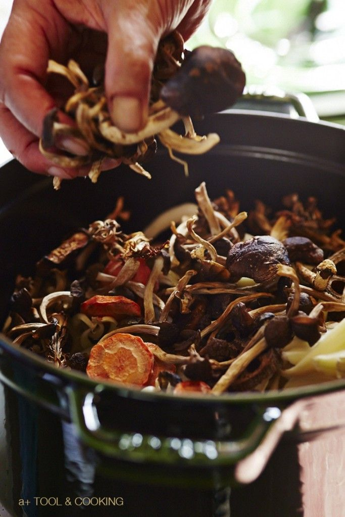 干し野菜の芋煮 薪ストーブ料理