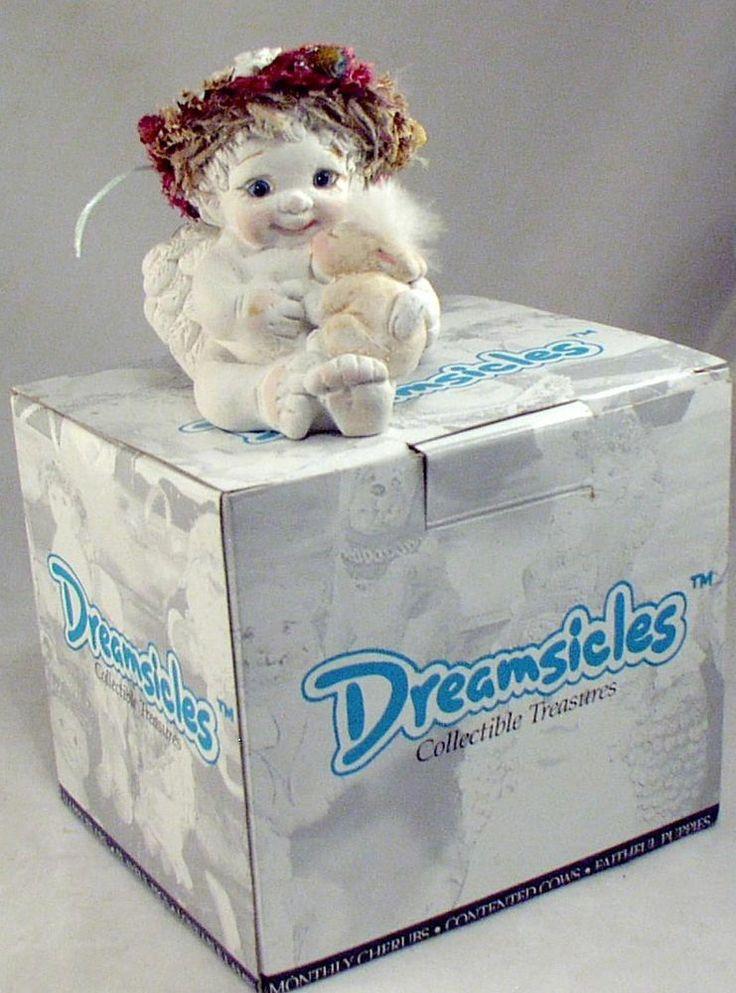 Dreamsicle Cherub Angel BUNNY AND ME Her Bunny Rabbit Has Faux Fur Head