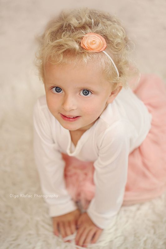 3 Year Old Girl With Curly Blonde Hair Unique Child